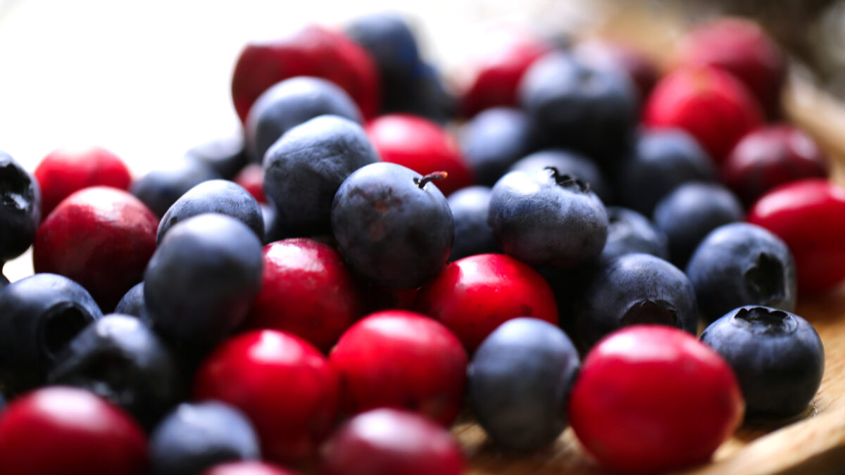 Cherries Blueberries Cranberries