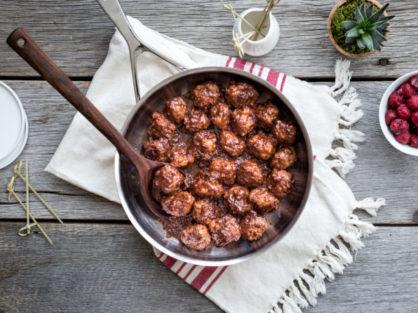 Cherry Glazed Spicy Pork Meatballs 2 of 9 700x455 1