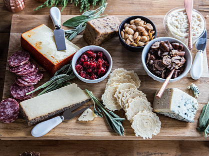 Holiday Cheese Board with Cherry Compote 1 of 5