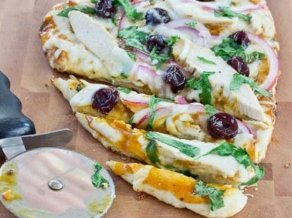 Bbq Chicken Pizza With Tart Cherries