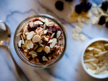 Cherry Almond Overnight Oats