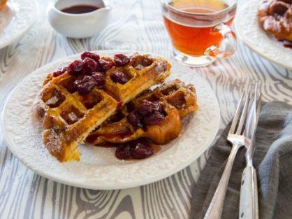 Tart Cherry French Toast Waffle