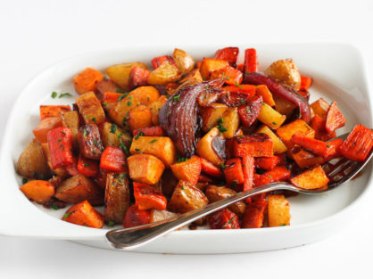 Tart Cherry Glazed Roasted Vegetables