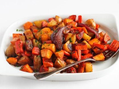 Tart Cherry Glazed Roasted Vegetables