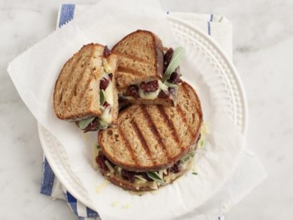 Tart Cherry Grilled Cheese Sandwich With Sage