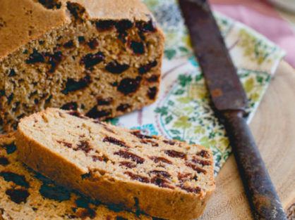 Tart Cherry Tea Bread