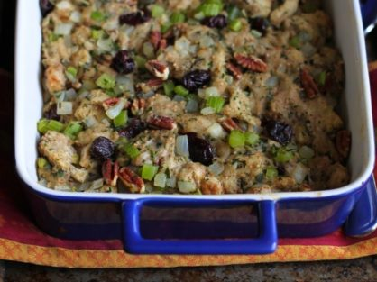 Whole Wheat Stuffing with Tart Cherries Pecans