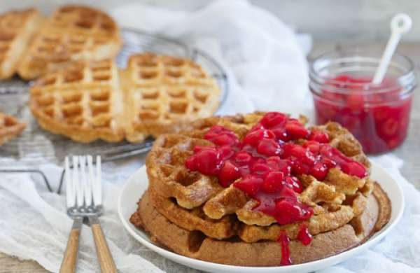 Cherry Oat Waffles high res 1 700x455