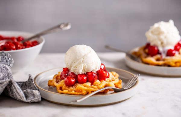 Tart Cherry Funnel Cake Sundaes 4 of 10 700x455