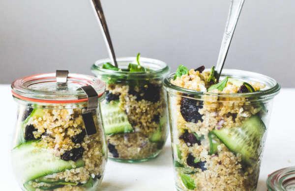 Basil cucumber quinoa picnic salad 6 700x455