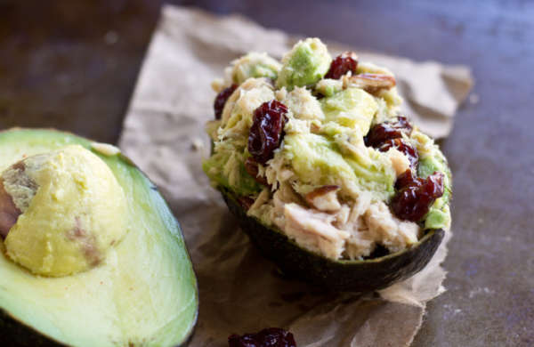 Tart Cherry Tuna Salad Avocado Bowls