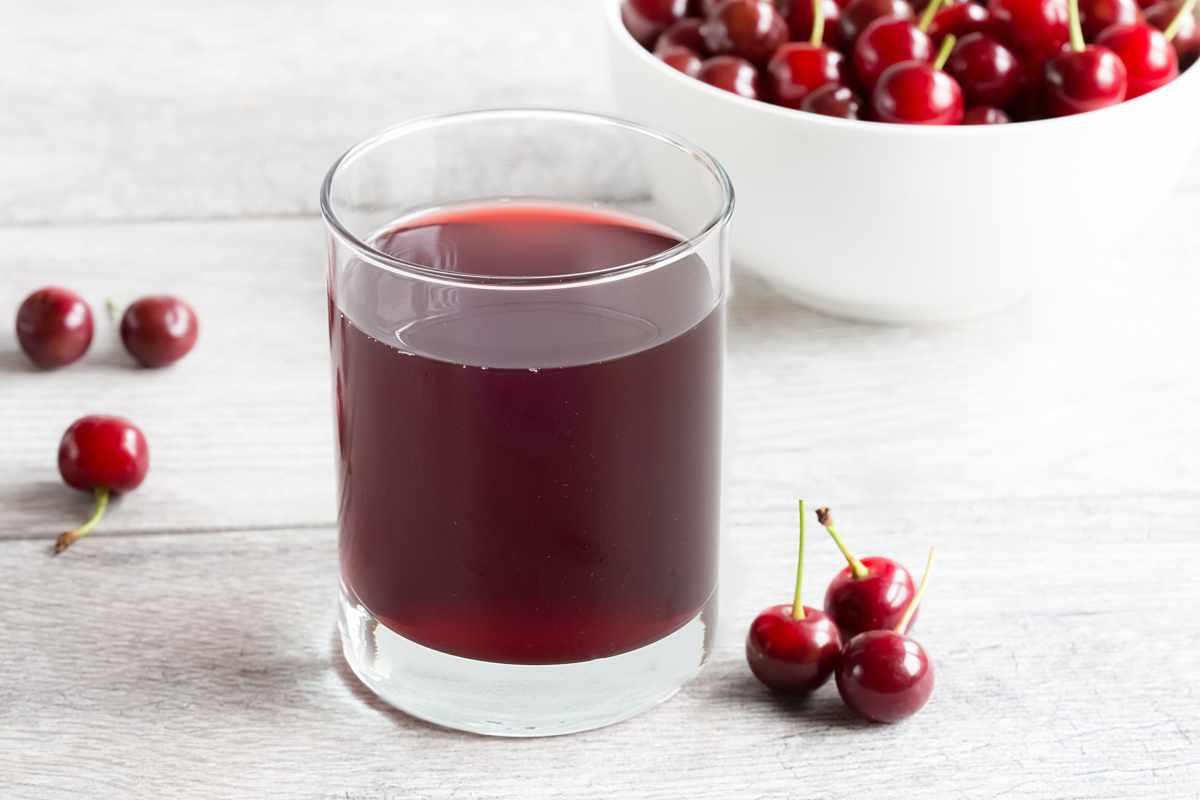 Cherries and juice