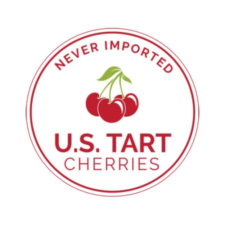 Us tart cherries never imported logo