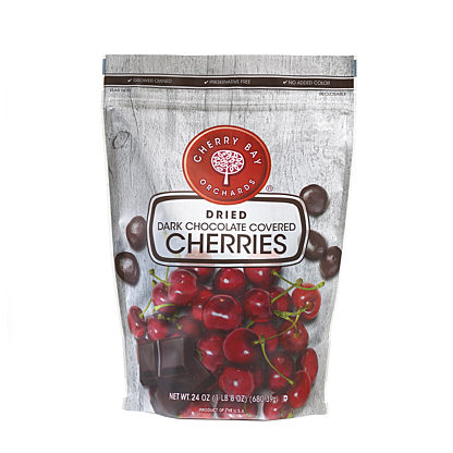 Cherry Bay Orchards Dark Chocolate Dried Cherries 24 oz.
