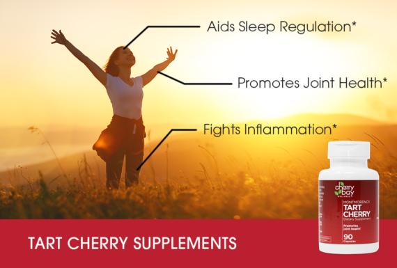 Tart cherry capsule infographic