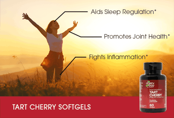 Tart cherry softgel infographic