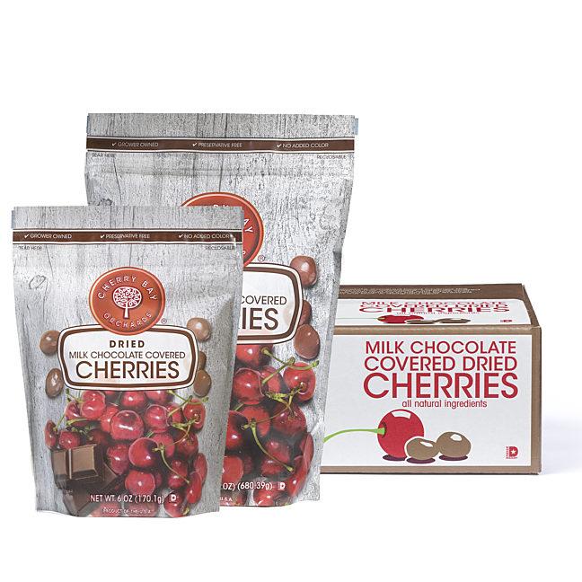 Milk Chocolate Covered Dried Tart Cherries CBO
